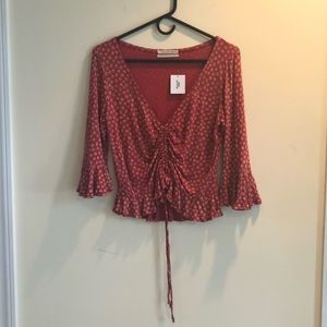 NWT Urban Outfitters Floral Design Flirty Top